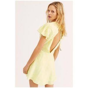 Free People Follow Along Silk Mini Dress